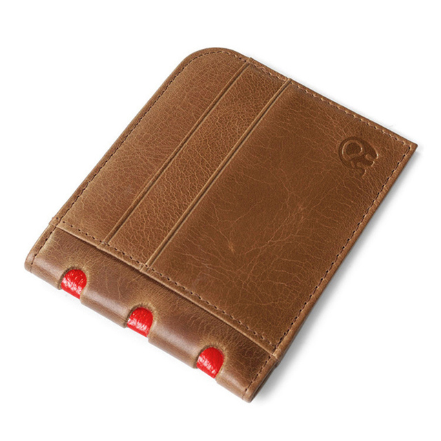 415707ba988 Groothandel Real Lederen Dunne 7 Creditcardhouder Slim Card Portemonnee  mannen Billfold Cash Clip Business Bank Kaart