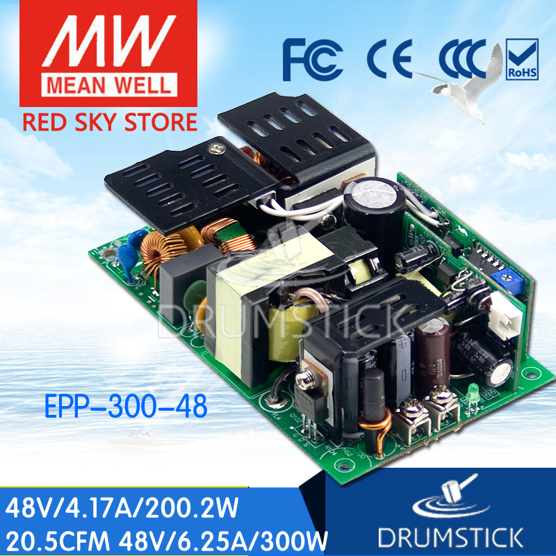 Selling Hot MEAN WELL EPP-300-48 48V 6.25A meanwell EPP-300 48V 300W Single Output with PFC Function best selling mean well epp 150 48 48v 2 1a meanwell epp 150 48v 100 8w single output with pfc function [hot6]