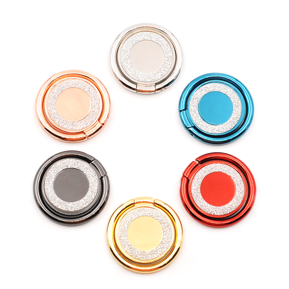 Round Phone Holder, 360 degree Rotate freely Finger Ring Stand, For iPhone Samsung Xiaomi Mobile Smartphone Holder