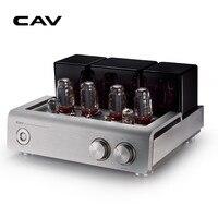 CAV T50 Tüp Amplifikatör 2.0 CH HIFI stereo Tüp Pendote ses Yüksek Sadakat Alüminyum Alaşım Gümüş EL156 Çift Güç Tüp amplifikatör