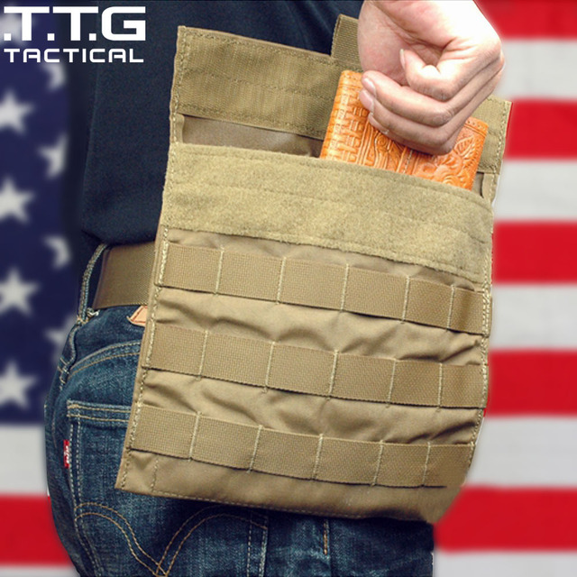 Molle Military Waist Bag Military Combat Waist Utility Pouch USMC Side Plate Carrier Bag Coyote Assault Waist Organizer