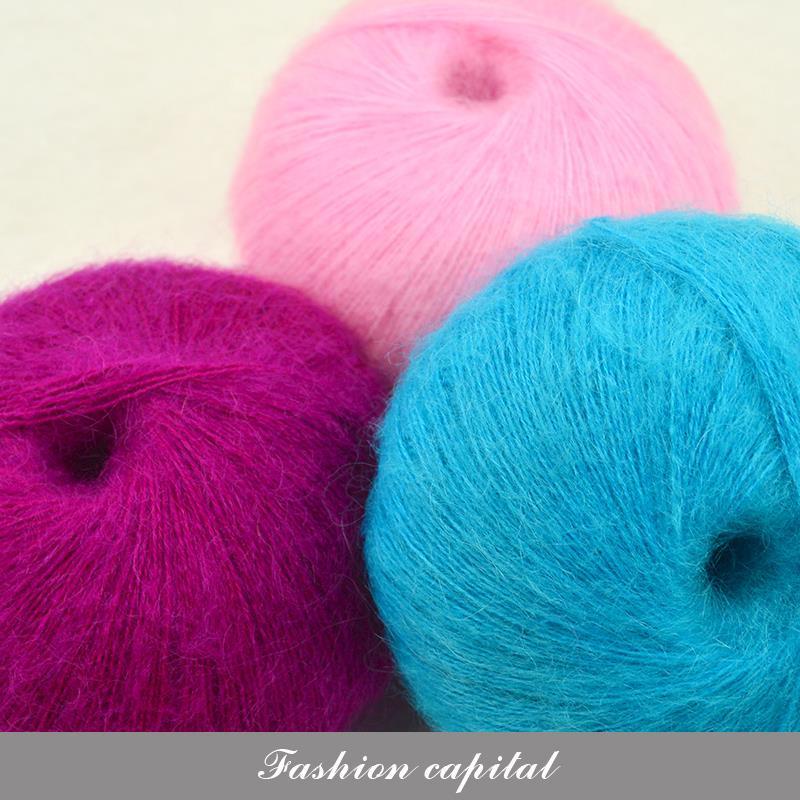 bolaslot alta calidad natural fibra de hilo de tejer hilados de mohair suave