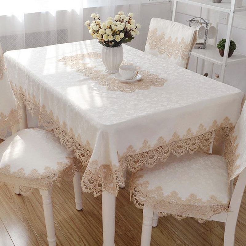 Us 7 92 34 Off New European Lace Tablecloth Rectangular Round Square Coffee Table Cover Home Decor Towel Textile Dining Runner Cloth In