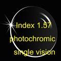 Índice 1.57 Aspheric lente monofocal fotocromático recubrimientos AR / lentes recetados / transición / Brown Gray
