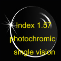 Index 1.57 Aspheric Photochromic single vision lens AR coatings / Prescription lens / Transition lens/Brown Gray
