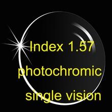 Index 1,57 Asphärische Photochrome einstärkenglas AR beschichtungen/Rezept objektiv/Übergang objektiv/Braun Grau