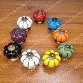 pumpkin Ceramic knob for Kids/ Children, Kitchen Ceramic Door Cabinets Cupboard knob and handles Dia 40mm