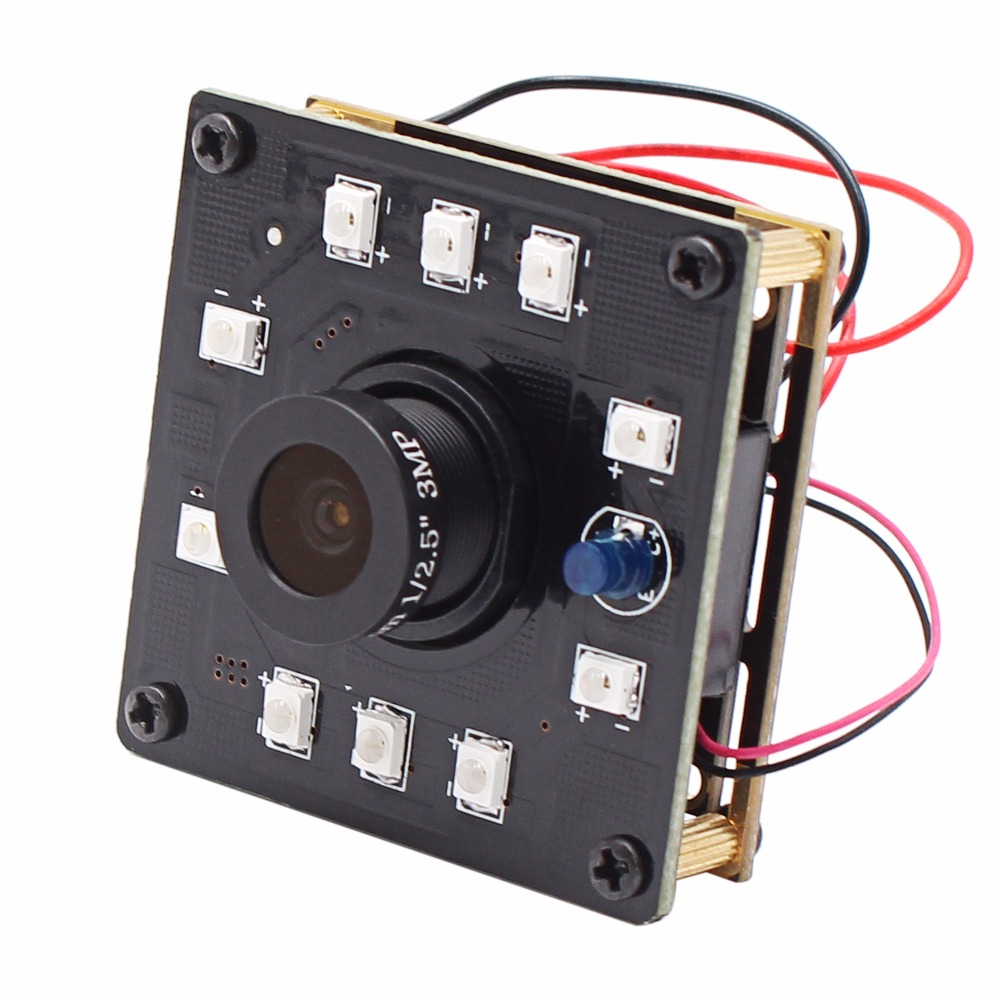 1.3MP Night vision CCTV USB Camera module board cmos AR0130 IR cut and 10pcs IR LEDS IR  Surveillance Camera board