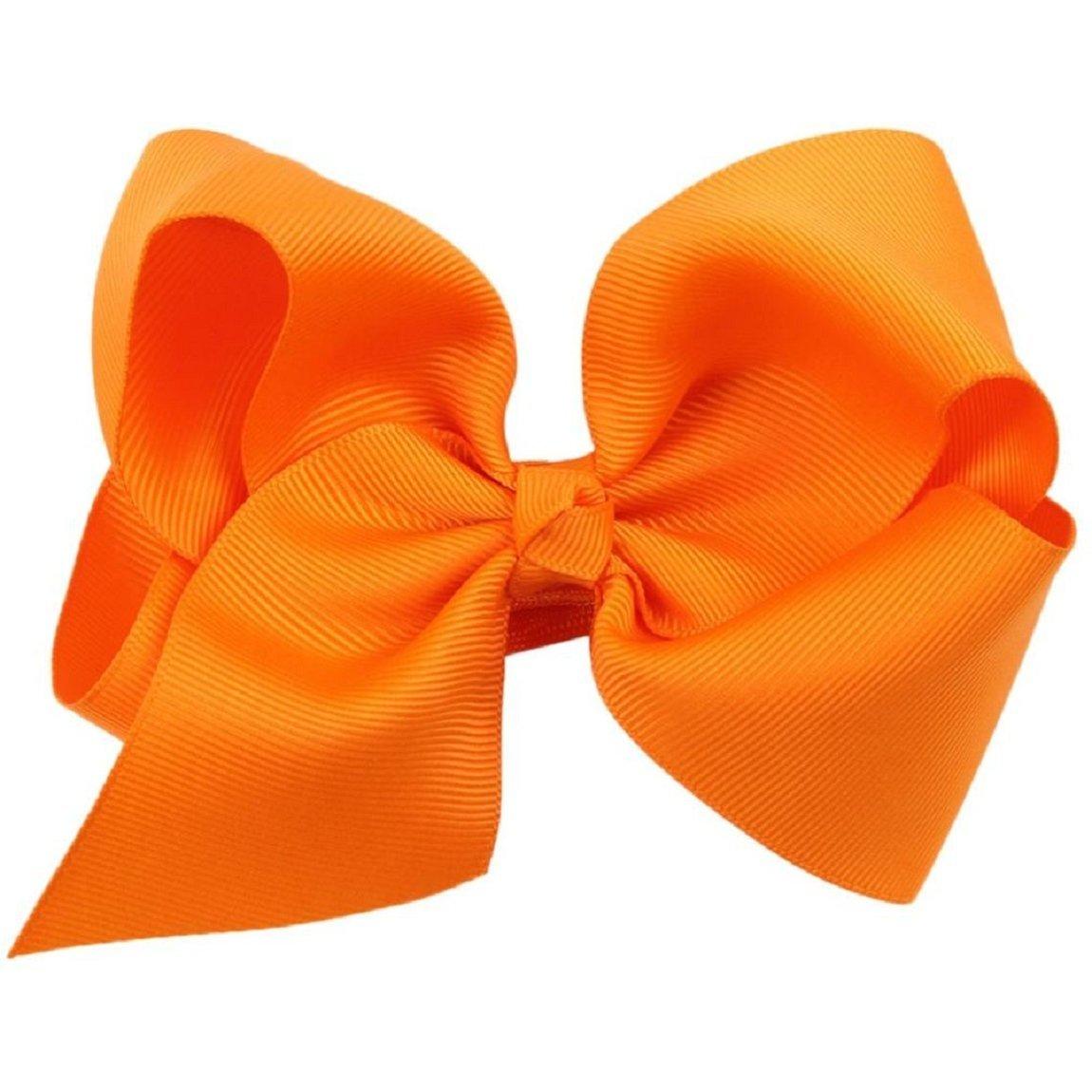 Best Sale 1 PC Sweet Childrens Butterfly Knot Hair Clip (orange)