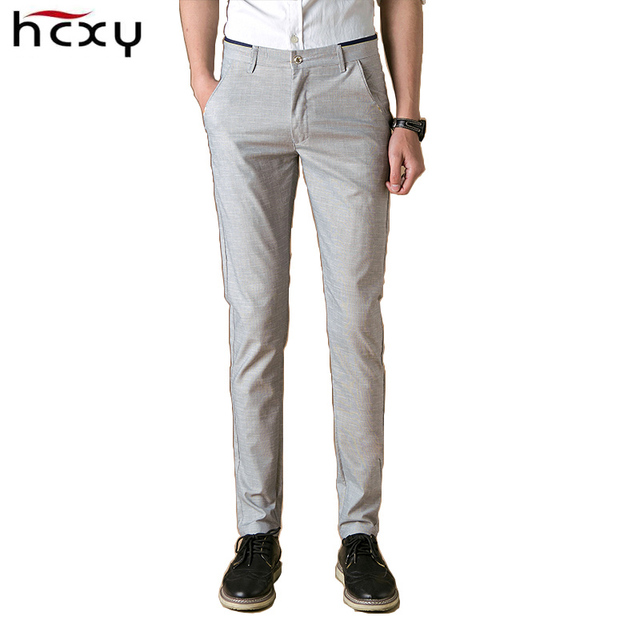 HCXY 2016 Men Summer thin Casual Pants men Stretch Flax Cotton Casual Trousers Size business Mens fashion dress pants Clothing