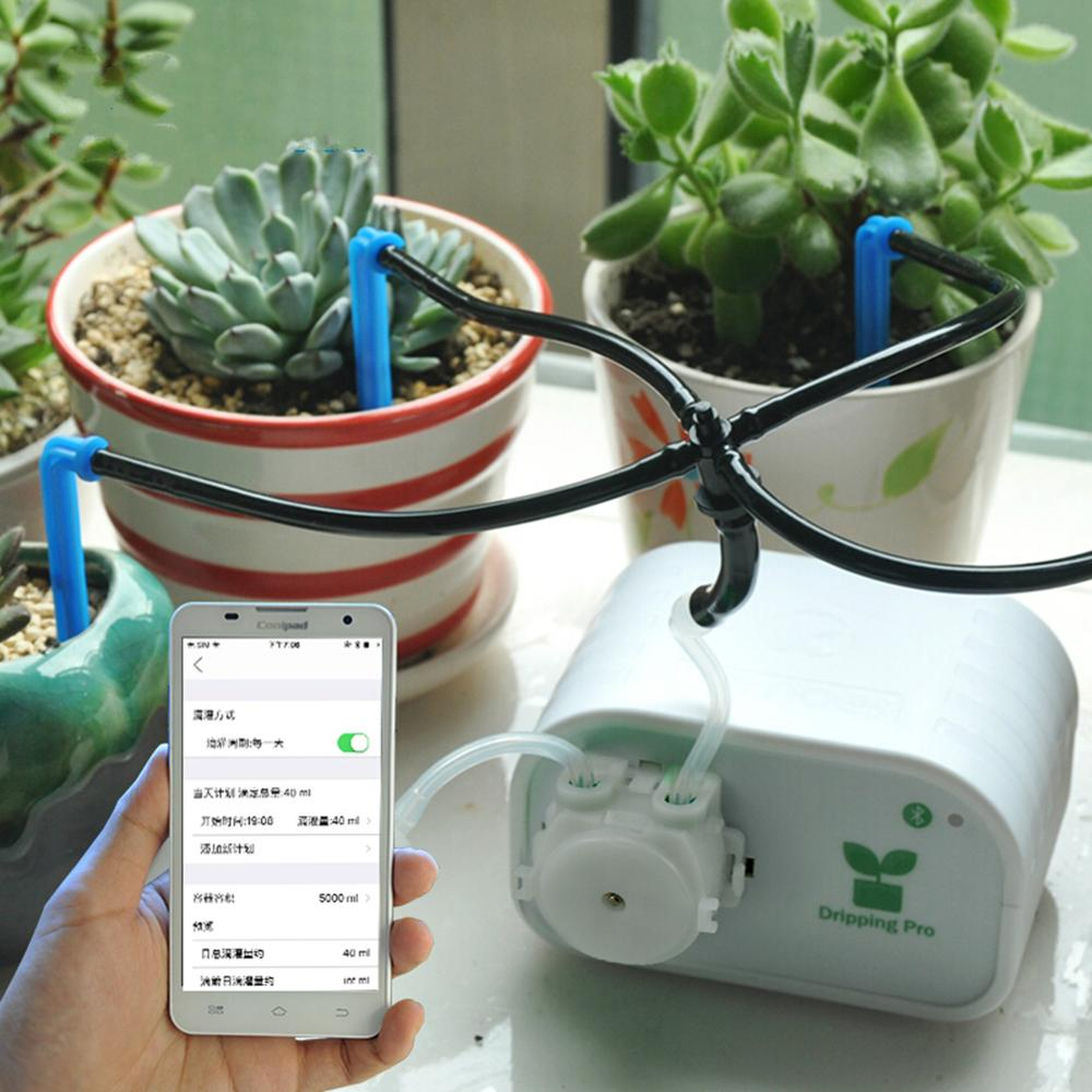 Home Automatic Drip Irrigation Kit USB Charging Pot Phone APP Control New Plants Self Watering System Smart Garden AccessoriesHome Automatic Drip Irrigation Kit USB Charging Pot Phone APP Control New Plants Self Watering System Smart Garden Accessories