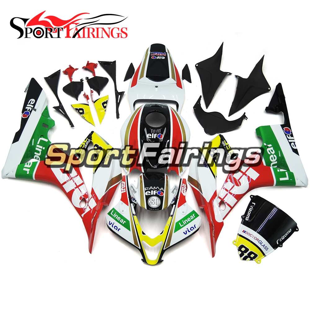 Motorcycle Injection ABS Plastic White Red Green Fairing Kits For Honda CBR600 F5 CBR600RR 2007 2008