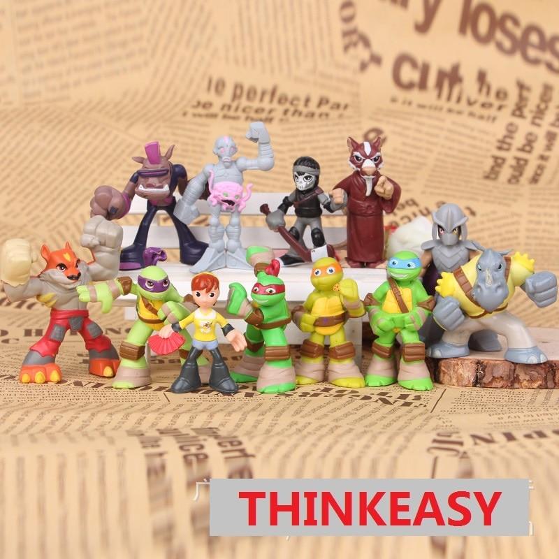 12 pcs/<font><b>set</b></font> <font><b>my</b></font> Ninja <font><b>little</b></font> Turtles dolls, children <font><b>toys</b></font> for birthday holiday patrol gift <font><b>poni</b></font> <font><b>cartoon</b></font> action <font><b>figure</b></font> doll Anime