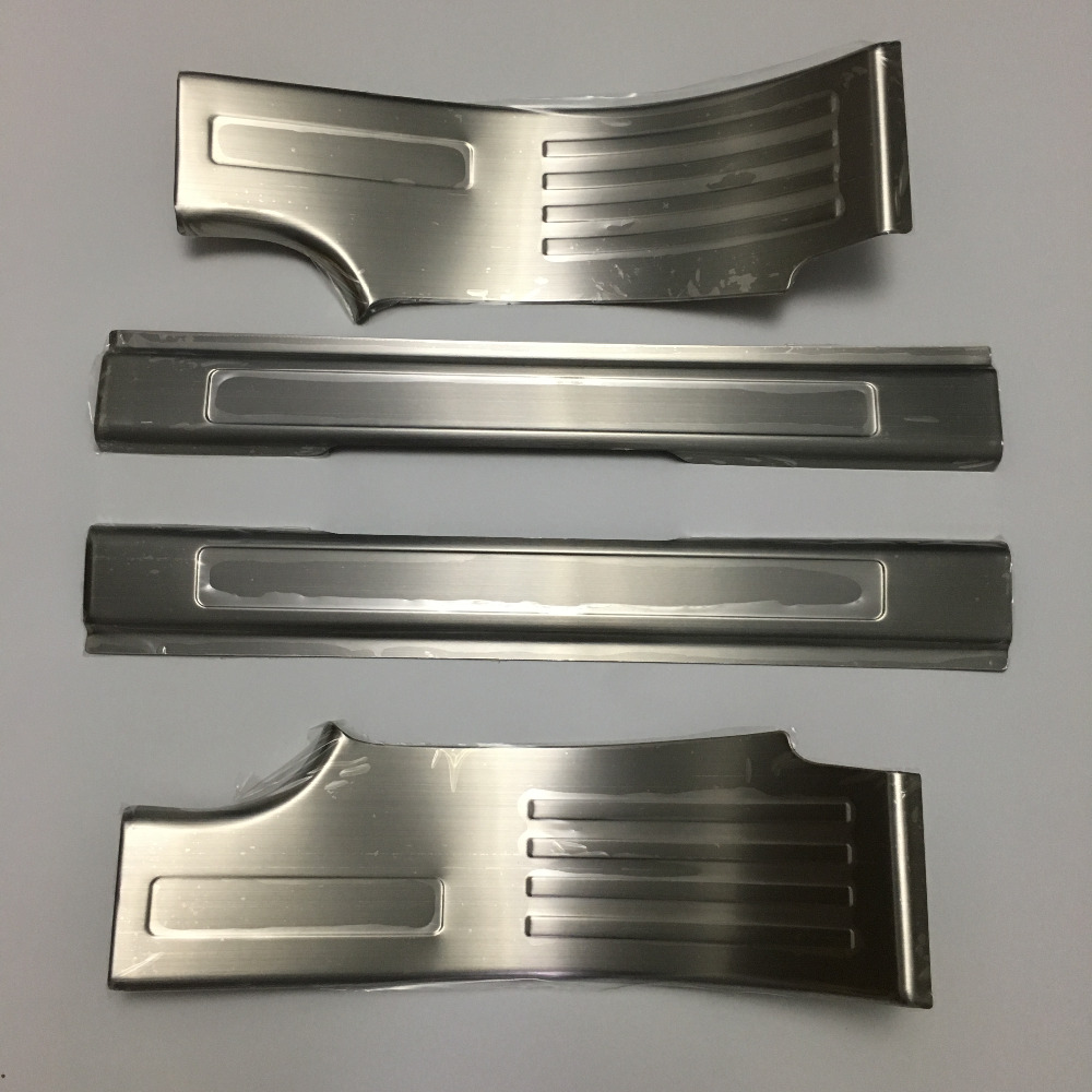 High quality! Stainless Steel Door Sill Scuff Threshold Plate Accessories For Land Rover Discovery Sport S/SE 2015 2016 2017 sport elite se 2450