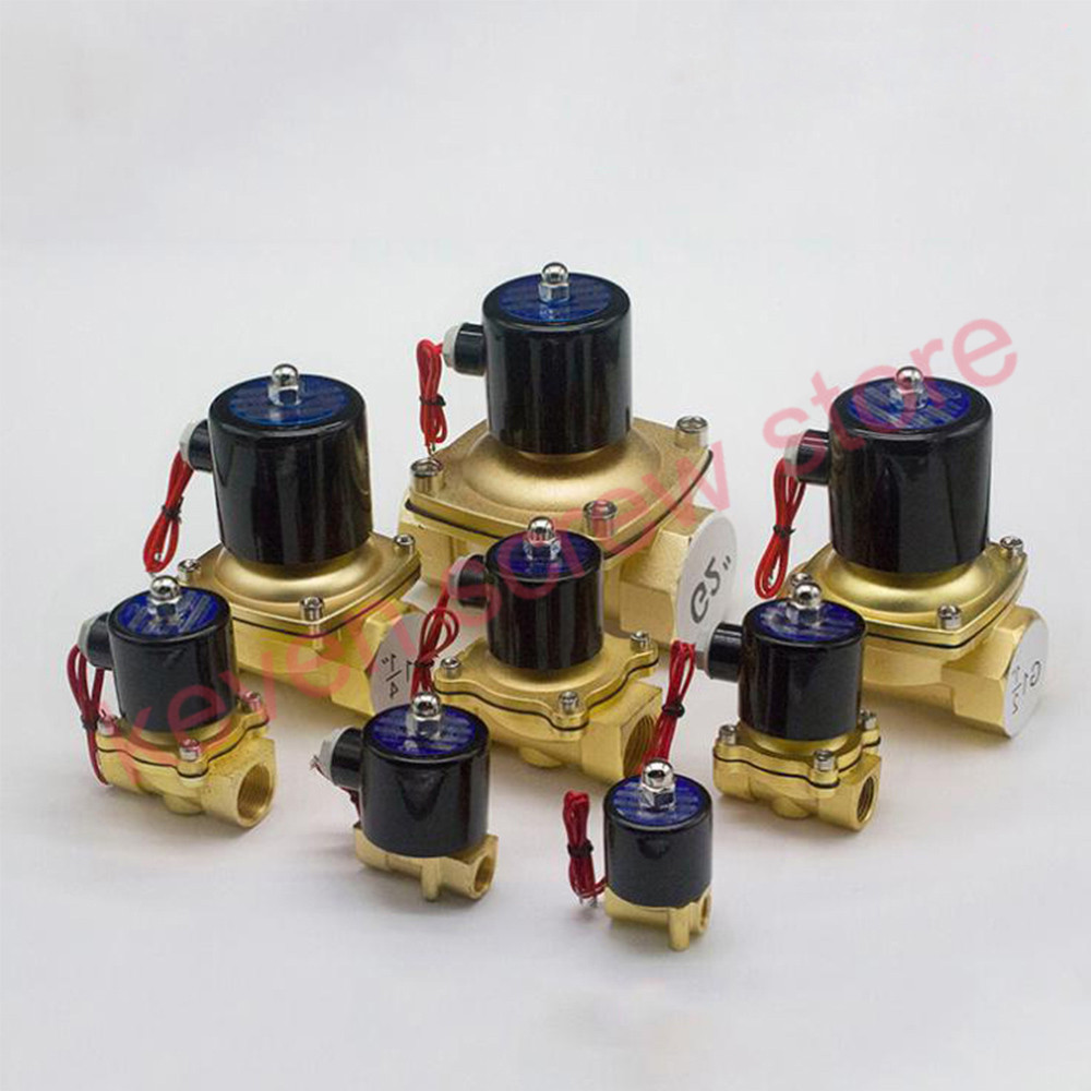 1PCS New 1/4,3/8,1/2,3/4,,AC 220V,DC12V/24V Electric Solenoid Valve Pneumatic Valve for Water Oil Air Gas Normal Closed NC 7 pcs make up brushes for make up professional eye shadow foundation eyebrow lip makeup brush suit make up tools