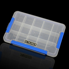 free shipping 15 grid Thickened PP storage box Category Box Sealed bin Home case office DIY