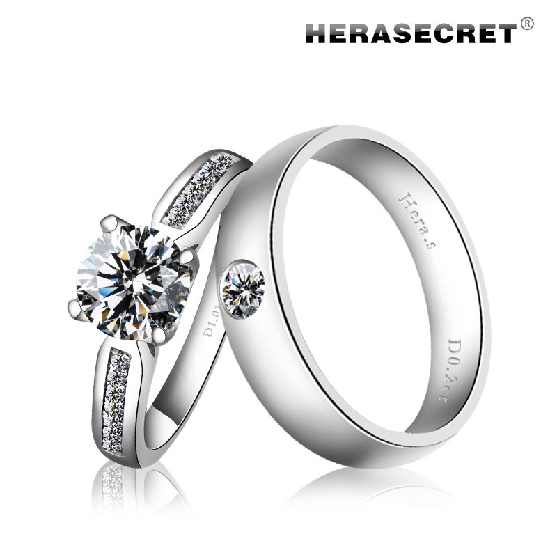 couple wedding rings extremely high simulation flash top ring 3138