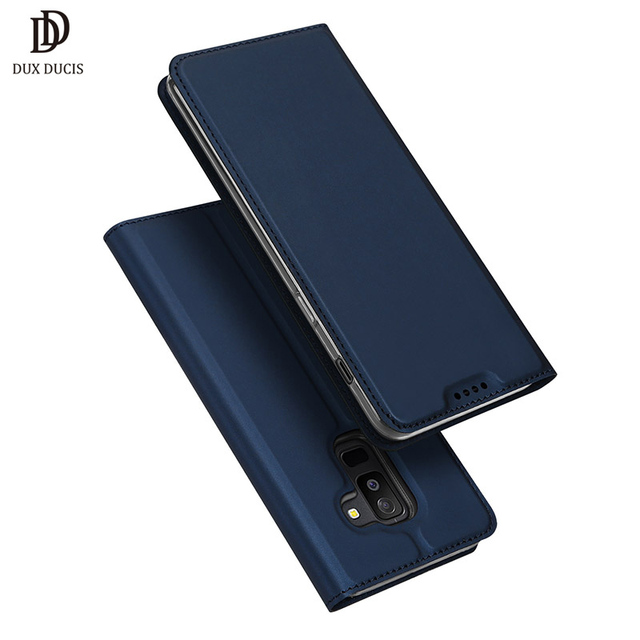 official photos 06891 8523d US $8.99 30% OFF|DUX DUCIS Wallet Leather Case for Samsung Galaxy A6 Plus  2018 Luxury Flip Cover for Samsung A6 A 6 2018 A600FN Phone Case Coque-in  ...