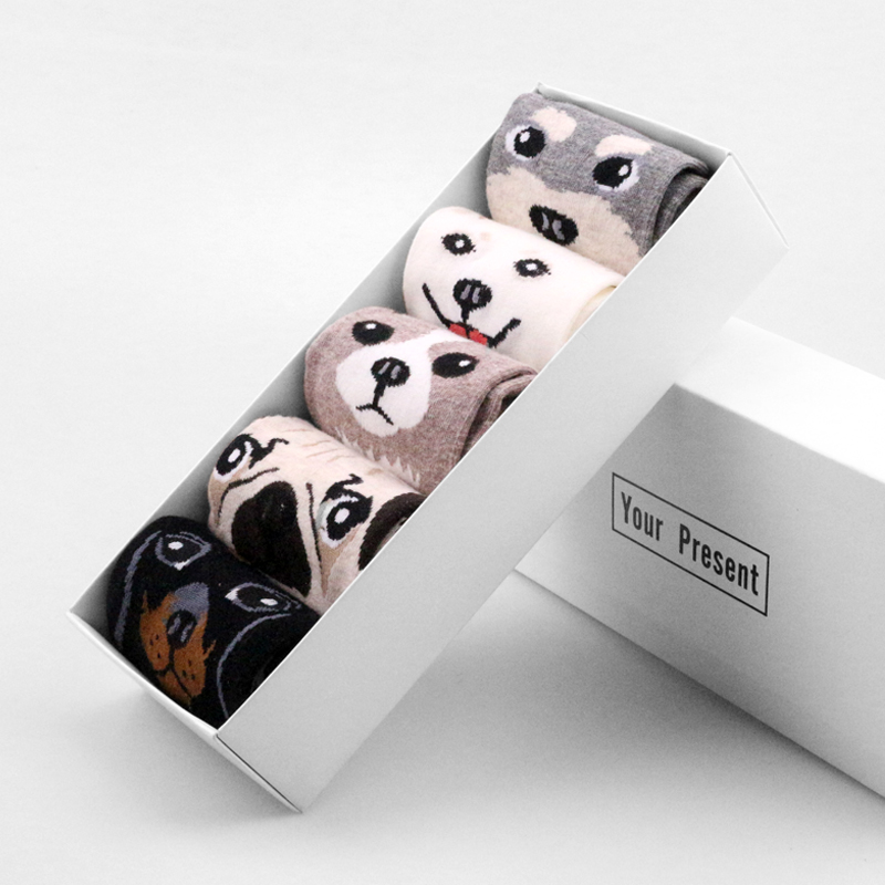 Cotton Women Socks Sweet Pug Dog Cat Fox Cute Lolita Socks Short Bamboo Kawaii Hipster Ladies Socks Female Animal Zoo Soks