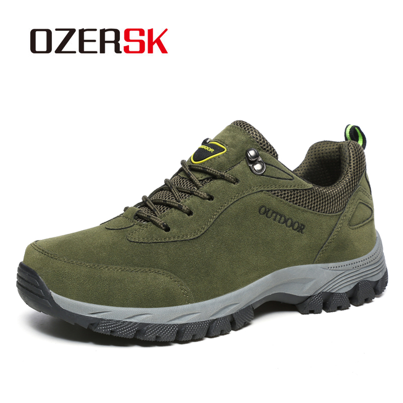 OZERSK 2020 Summer New Casual Shoes  Leather Men Outdoor Comfortable Sneakers Shoes  Men's Walking Shoes Sapatos Masculino
