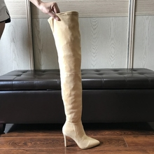 Boots Long Stretch Thigh High Boots Knee Boots Ez025