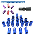 20 PCS/set D1 LIGHT WEIGHT WHEEL RACING LUG NUTS WITH KEY FOR Nissan Subaru (P:1.25.45mm)-Black Red Blue Purple