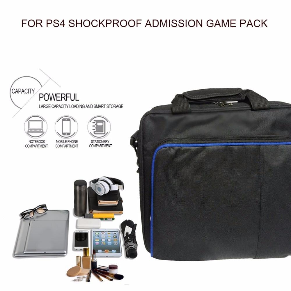 Hohe Qualität Schutz Spiel Tasche Reise Lagerung Carry Case Schulter Taschen Für Ps4 Konsole Controller Für Playstation SorgfäLtige FäRbeprozesse Taschen