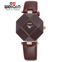 WEIQIN HOT 100% Pure Ceramic Case Luxury Brand Top Leather Strap Fashion Watches Women Rhinestone Lady Dress Watch Montre Femme