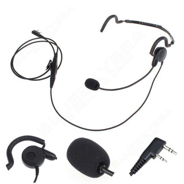Envío libre! 2 Pin PTT MIC Auricular para Baofeng Kenwood Wouxun Radio Transceptor