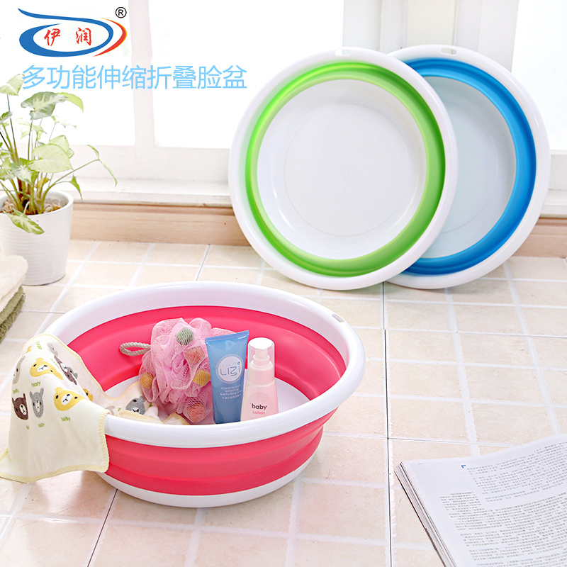 Child Basin Folding Lavendered Baby Wash Basin Portable Travel ...
