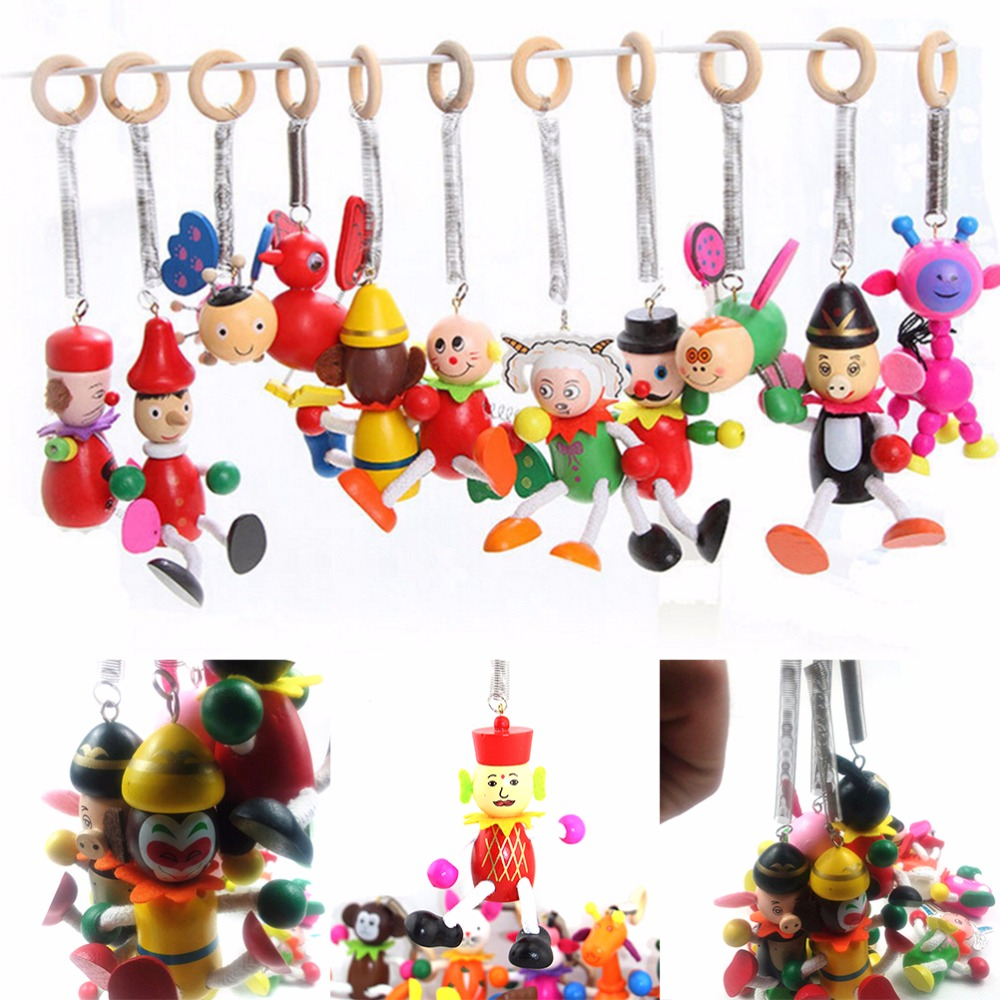 Toys For Spring : Mini cartoon wooden action kids toys figure