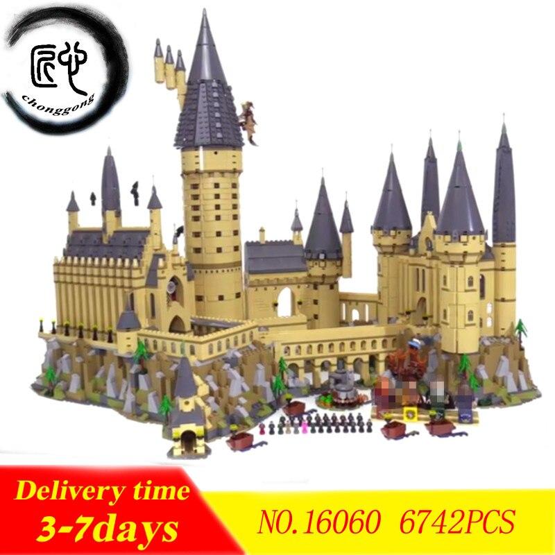 Nuevo Harry magia de Hogwarts Castillo ajuste legoings de harry potter Harry potter Castillo de la ciudad de creador de bloques de construcción ladrillos chico 71043 chico DIY juguetes Juguetes regalo