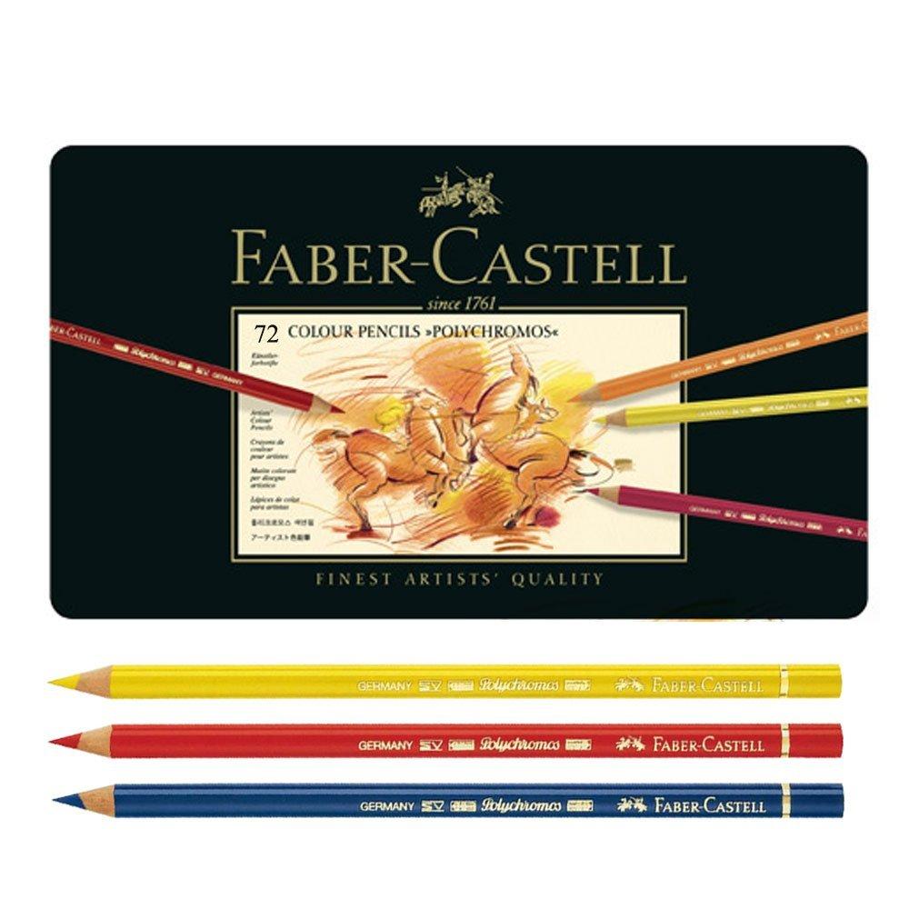 Faber-Castell Polychromos Oil Color Pencils Metal Tin Set 120 Colors Professionals Colored Pencil case paints lapiz pastel цена и фото