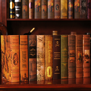 10PC Book  European  box    simulation study books display props  Fake  retro ornaments book decoration