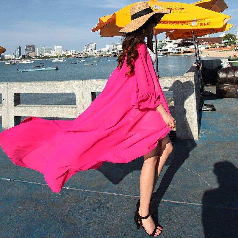 Modo Camicetta Multi Cardigan Donna Il Protezione Più Di Chiffon Match Nuove Max Tutti Donne Estate Lungo Abbigliamento I Formato Top Kimono Personalizzare Solare wfnqxIRAH