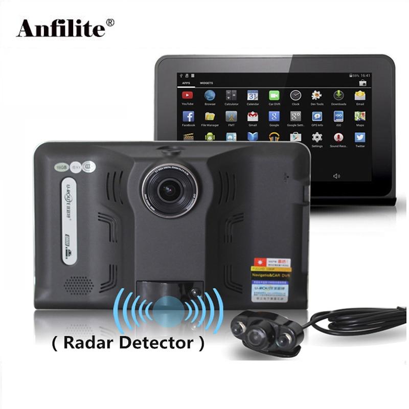 Anfilite 7 inch Android GPS Navigation Car DVR Wifi avin FM transmitter 512M 16G Bundle free