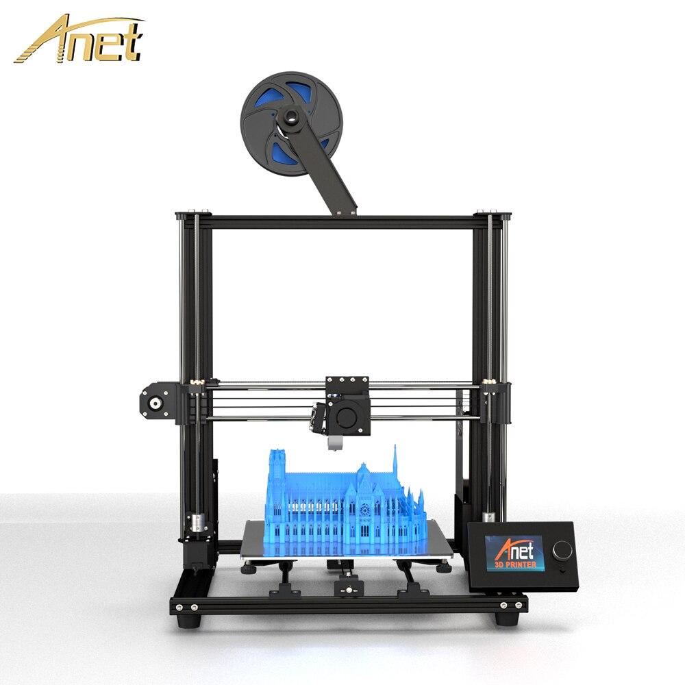 2019 Anet A8 Plus version améliorée bricolage imprimante 3D haute précision bureau en métal imprimante 3D Impresora 300x300x350mm PK Anet A8