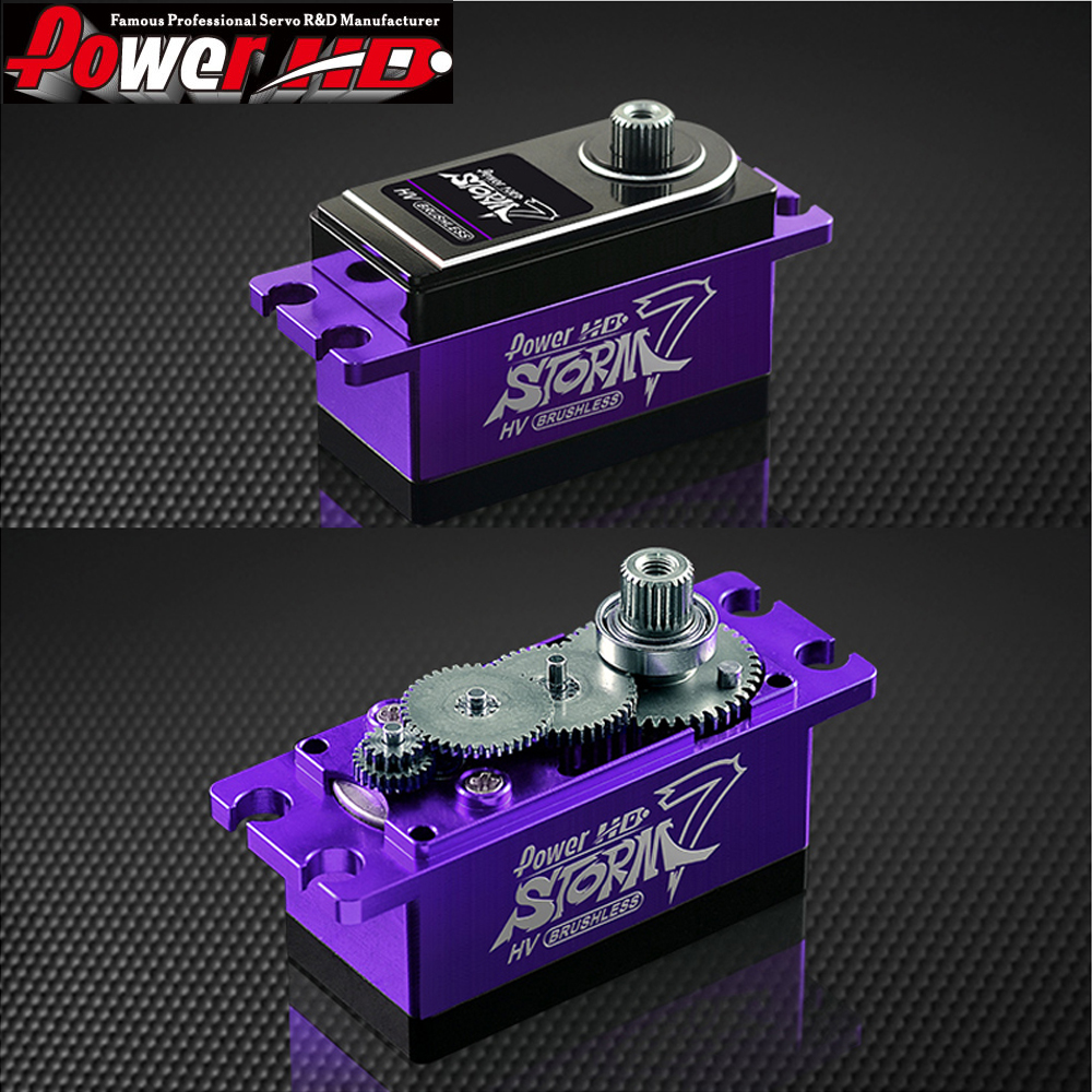 1pcs POWER HD STORM 7HV Drift car Electric car Short full metal body brushless servo Compatible FUTABA