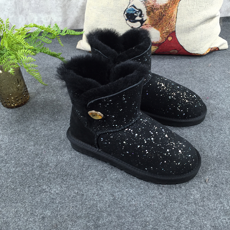 GXLLD Hot Sale Shoes Women Boots Solid Slip-On Soft Cute Women Snow Boots Round Toe Flat with Winter The Fur of one sky Boots 2017 new arrival hot sale women boots solid bowtie slip on soft cute women snow boots round toe flat with winter shoes wsz31