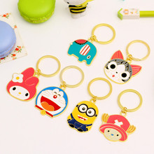 Free Shipping 1pcs 8cm Creative Cute Cartoon Keychain Animation Action Figures With Keychain For Kids Gift Pendant Keychain
