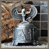 Unique Classical Art Metal Rotate Music Box Ancient Mythical Figures Statue Music Box Home Furnishings