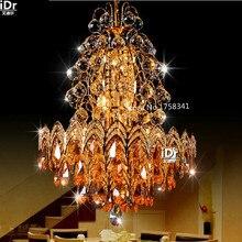 Новая мода современная гостиная спальня лампа лестница кристалл подвесные светильники светильник Спальня Зал Роскошные лампы