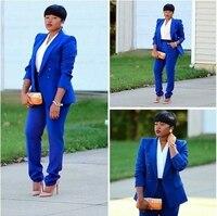 Pant Suits Ol Women Casual Office Business Suits Formal Work Wear Sets Uniform Styles Elegant Pant Suits Plus Size W36