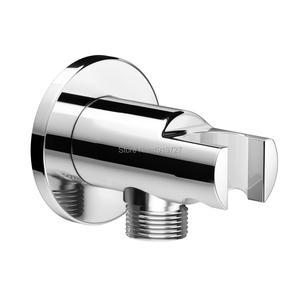 Image 4 - עגול סגנון הסתיר תרמוסטטי מיקסר Valve כף יד אמבטיה מוצר אמבטיה מקלחת סט 2 חיוג 2 דרך מודרני מקלחת מערכות