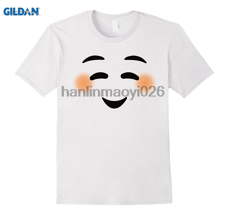 GILDAN Emoji Shyly Blush Smiling Face Smiley Shy Eyes Tee T-Shirt