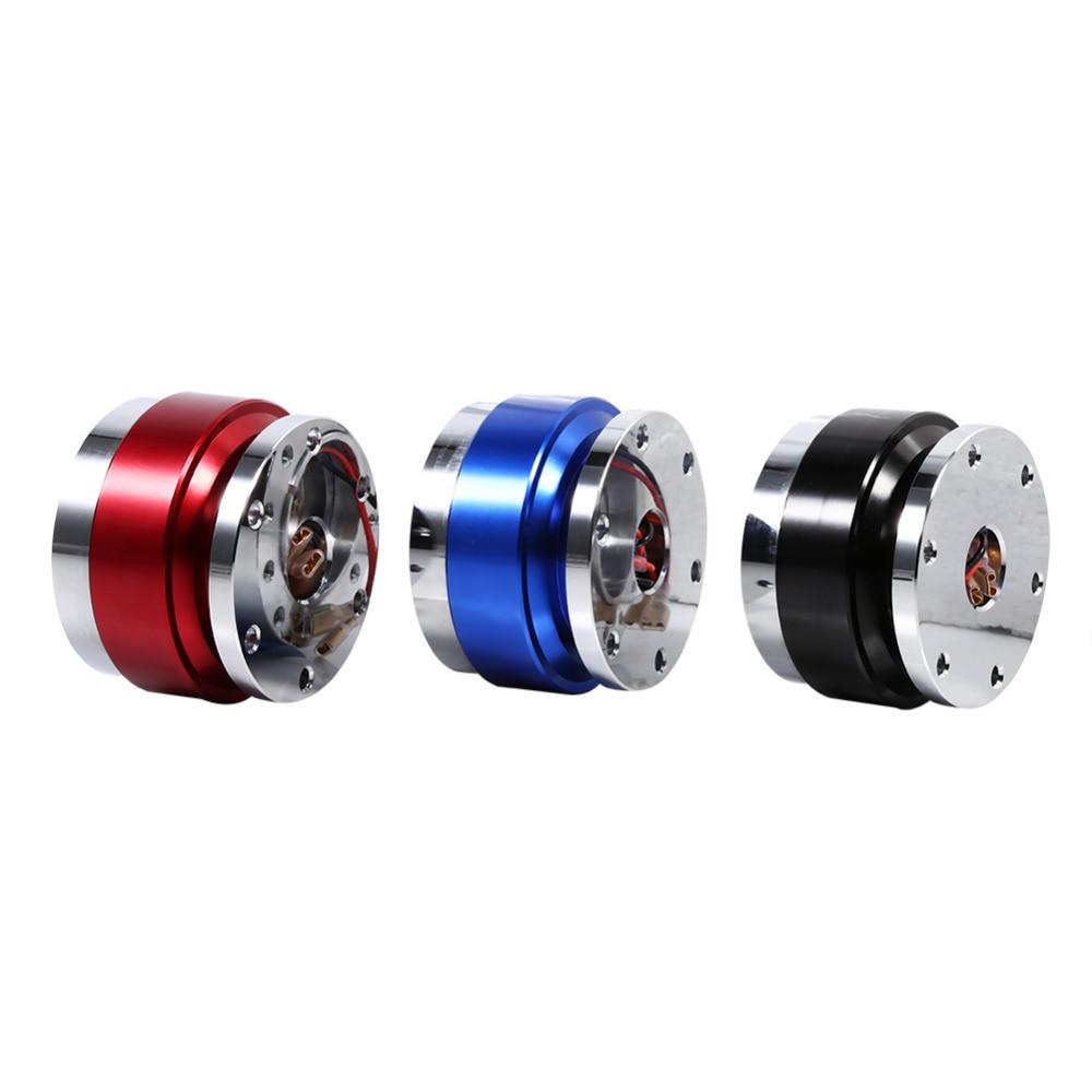 Цена за Универсальный 6 отверстий болт мяч гоночный руль Quick Release концентратор Volante адаптер съемный выхватить Босс Комплект Лидер продаж