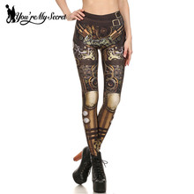 [You're My Secret] Fashion Design Steampunk Leggings Women Star Wars leggin Women High Waist Mechanical Gear 3d Print Cosplay
