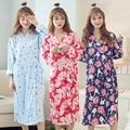 2016 de invierno novia de la boda de dama de honor de satén de seda robe kimono robe albornoz floral corta noche de baño vestidor moda gow