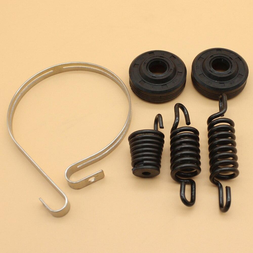 Brake Band Oil Seal Isolator AV Shock Buffer Spring Kit Fit PARTNER 350 351 370 371 390 420 Chainsaw Parts