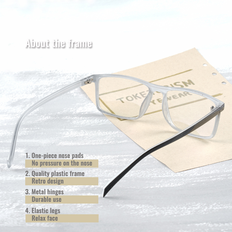 Toketorism high fashion rectangle glasses for myopia fashion spectacle frames for women men 9242 in Men 39 s Eyewear Frames from Apparel Accessories